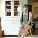 Portraits of men wearing their girlfriends' clothes is entertaining stuff