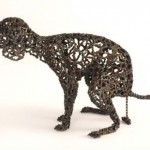 Artist Nirit Levav Makes Dogs Sculptures From Old Bicycle Parts