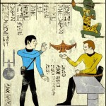 Hero-glyphics: Josh Lane's Spock And Comic Book Marvels Walk Like Egyptians