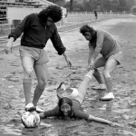 Playboy Club Bunnies Play Malcolm Allison's Planet of the Apes Team At Football In 1973