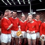 Manchester United 1963: Tony Dunne, Bobby Charlton, Noel Cantwell, Pat Crerand, Albert Quixall, David Herd And The FA Cup Hat