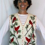 Woman Sells Tacky Homemade Christmas Sweaters Like She's Being Held Hostage