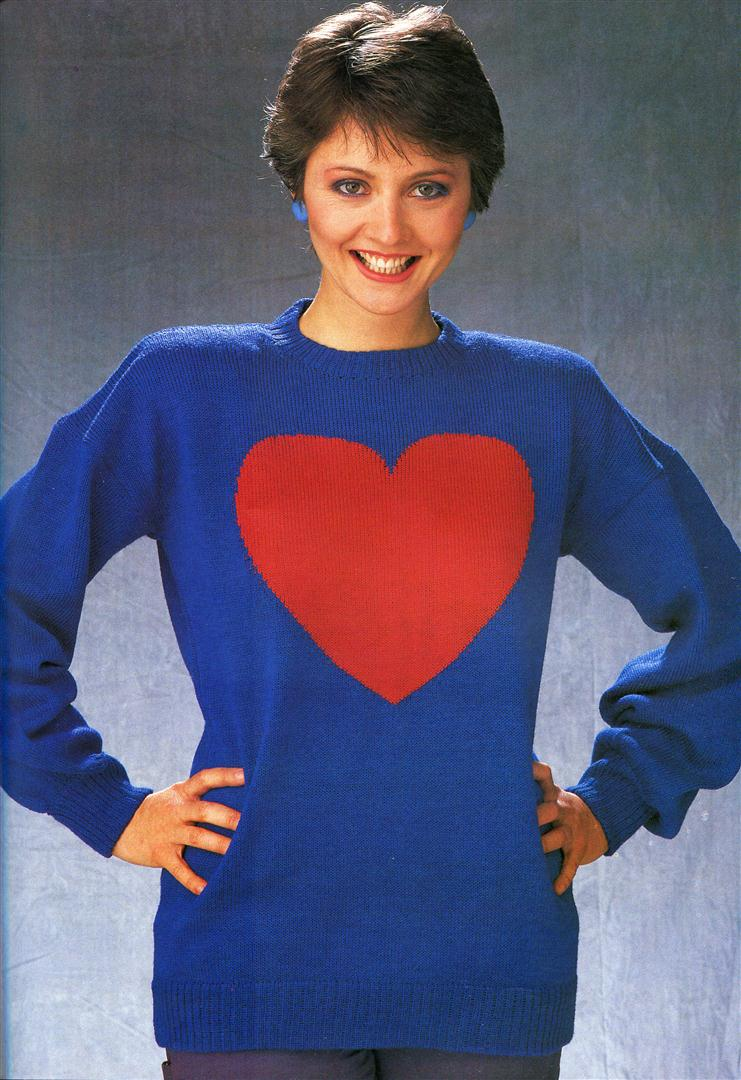 Image from 1980s knitting book, Wit Knits.