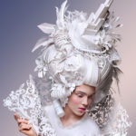 Powdered wigs in paper for your baroque night out