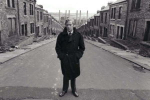 Michael Caine on Frank Street in Benwell, 1970
