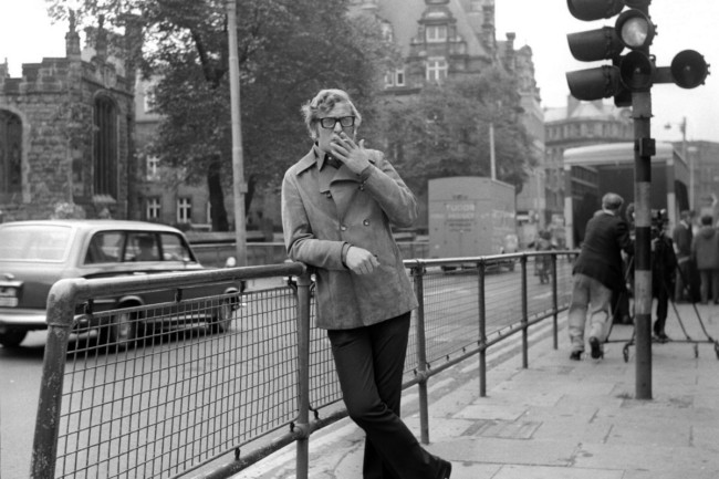Michael Caine on Westgate Street, Newcastle upon Tyne
