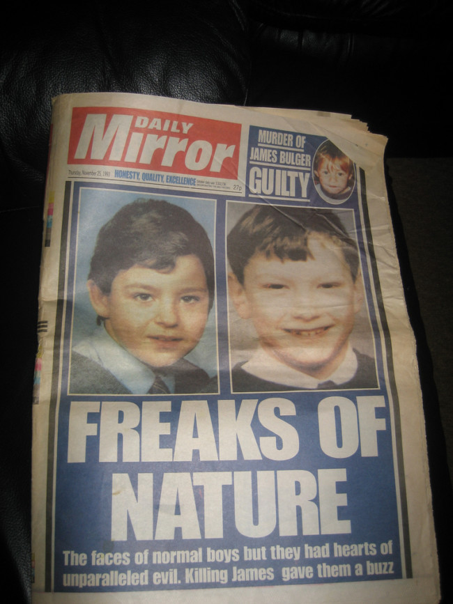 Daily Mirror Bulger freaks