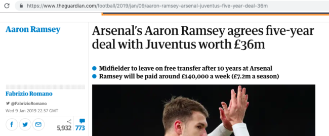 Transfer ramsey arsenal