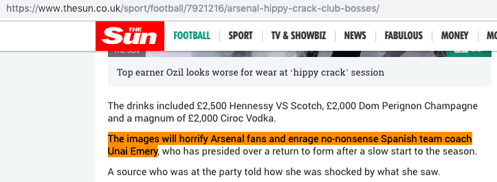 Arsenal hippy crack