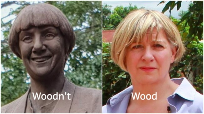 Victoria Wood statue