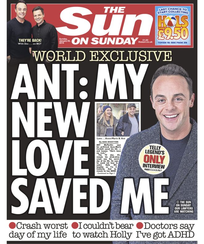 And Mcpartlin the sun