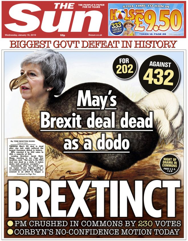Brexit the sun May dodo