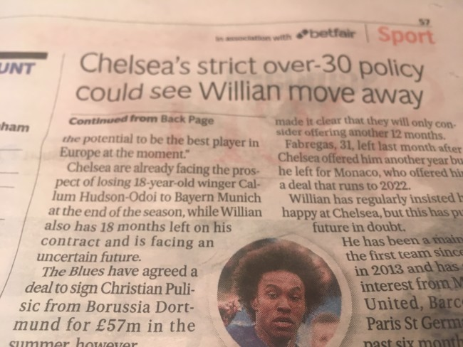 Chelsea Willian transfer