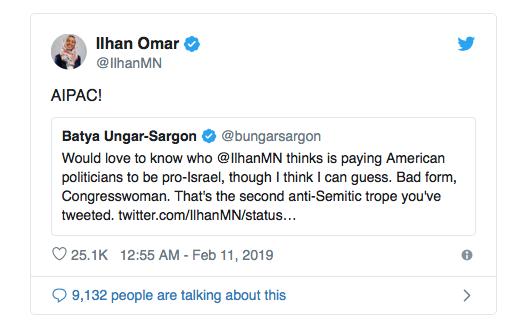 Ilhan Omar Jew hater antisemitism