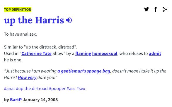 Harris slang Croydon