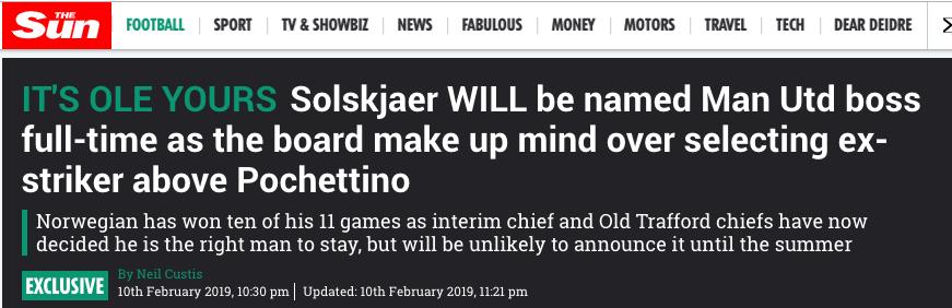 Ole Gunnar Solskjaer manager manchester united
