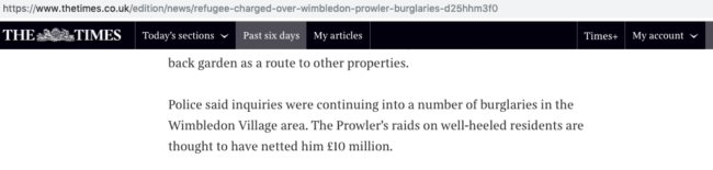 The Wimbledon Prowler