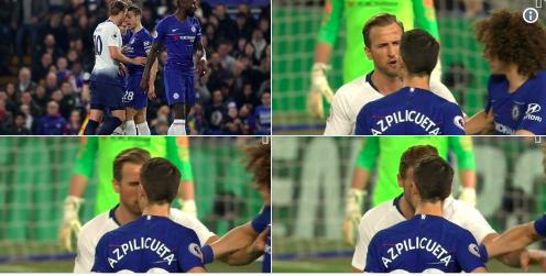 Kane headbutt Chelsea