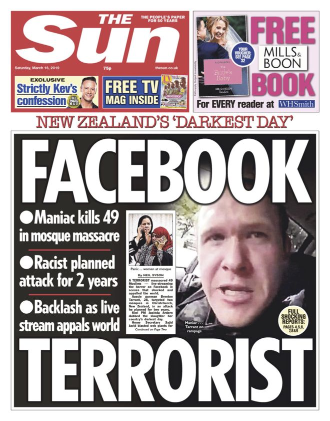 The Sun New Zealand massacre