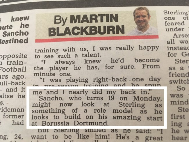Raheem Sterling the sun