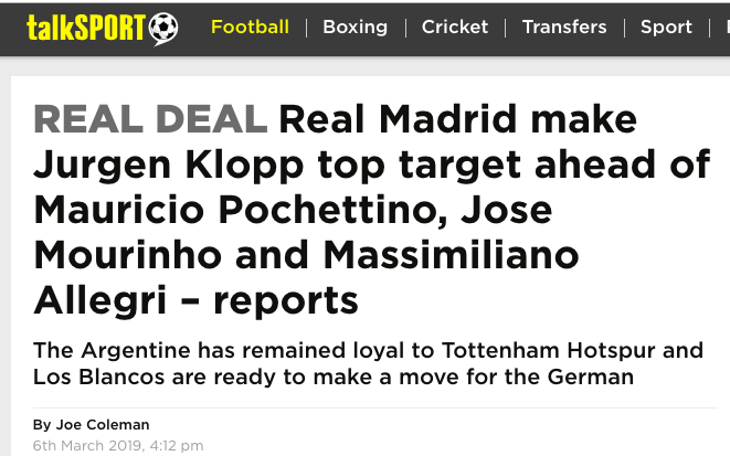 Mourinho Klopp Madrid