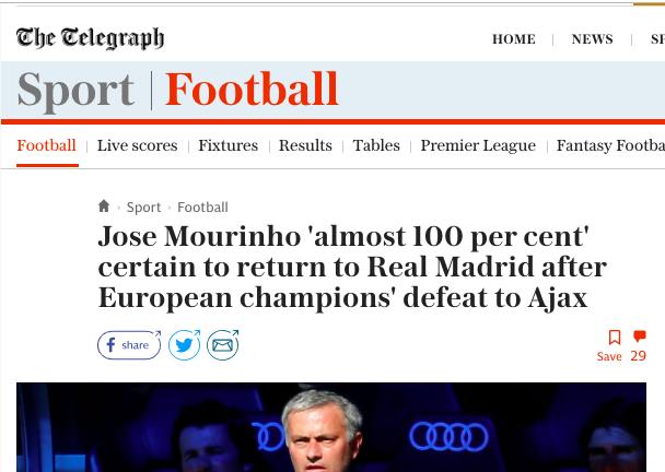 Mourinho madrid