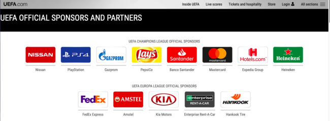 Uefa supports booze, junk food, debt and big oil but says no to sweating in private