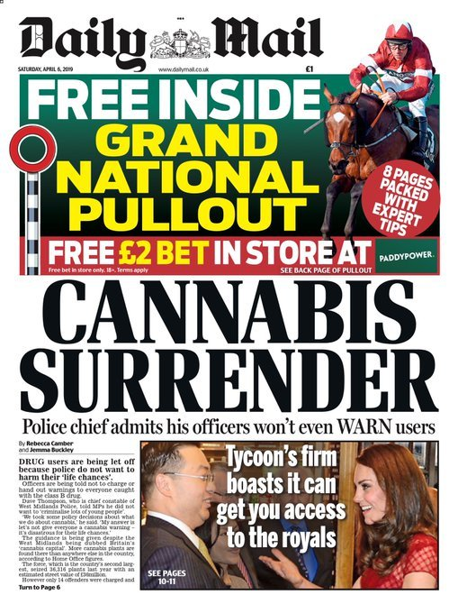 Daily Mail cannabis