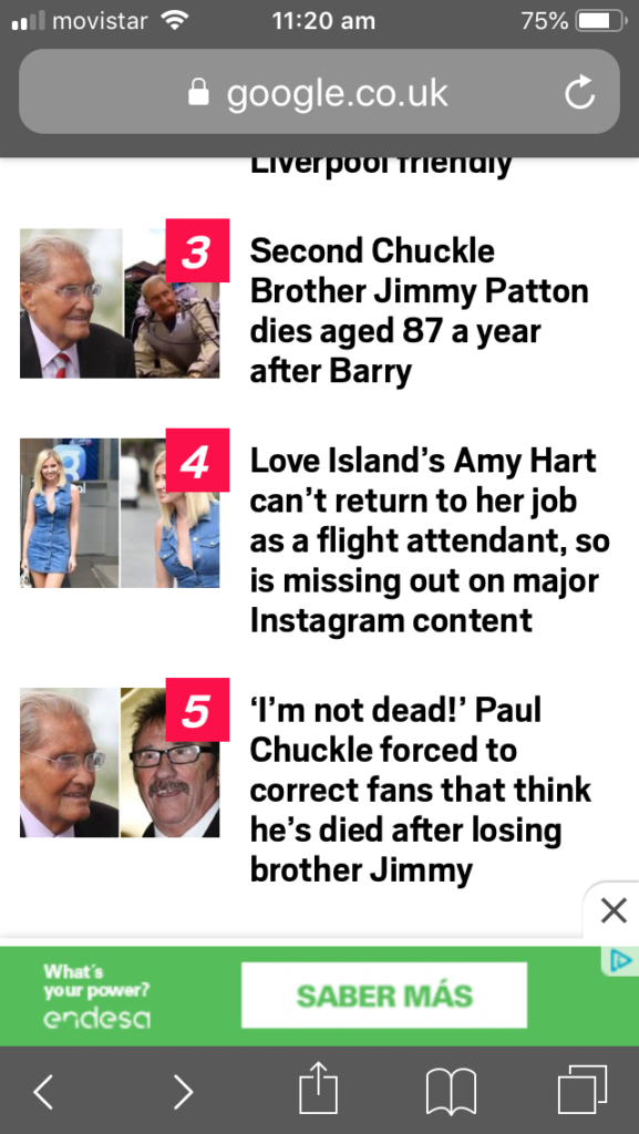 chuckle brothers death clickbait