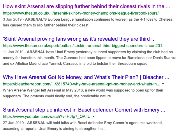 Arsenal transfers