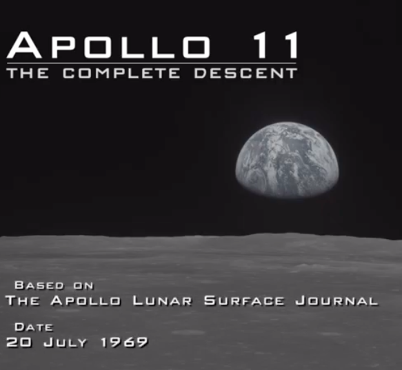 Watch the entire descent : the Apollo 11 Lunar Module lands on the moon