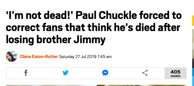 Chuckle Brothers dead