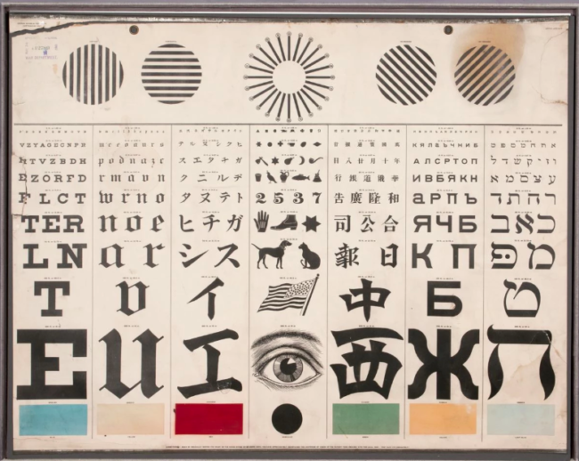 George Mayerle's Eye Test charts