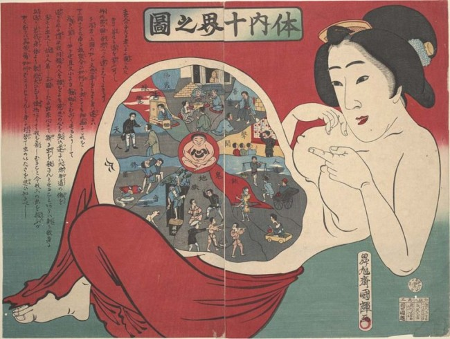 "Ukiyo-e, or ""pictures of floating worlds"""