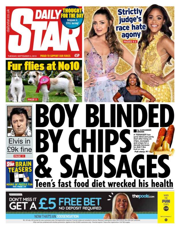blinded by chips and sausages
