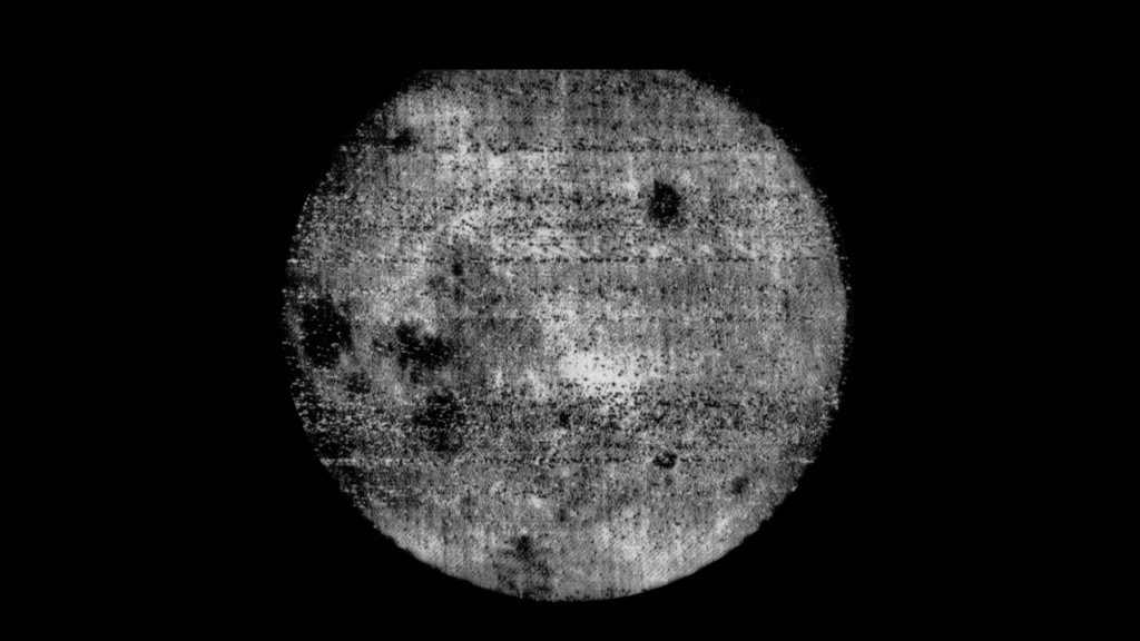 The first photo of the Dark Side of the Moon