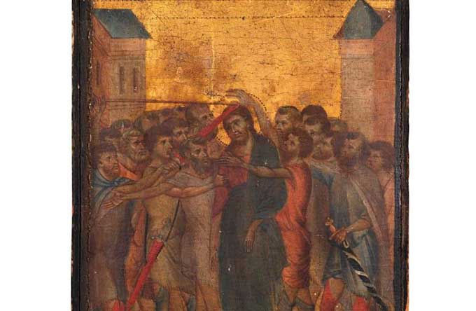 'Christ Mocked' by Florentine artist Cimabue