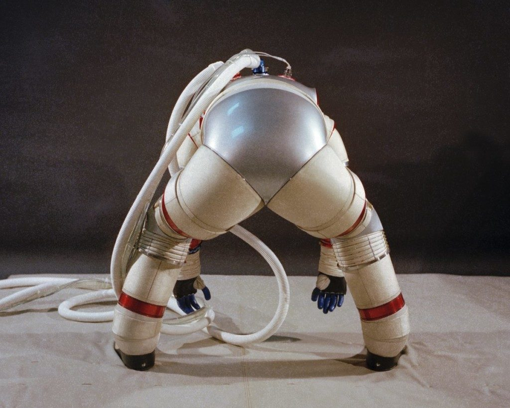 Nasa's hard shell space suits