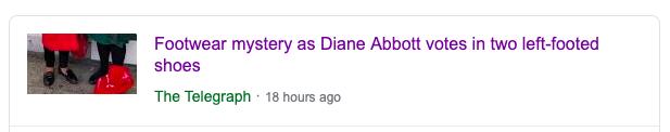 Diane Abbott shoes