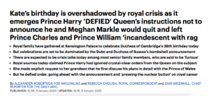 prince harry meghan markel daily mail