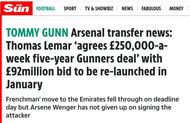 lemar Arsenal