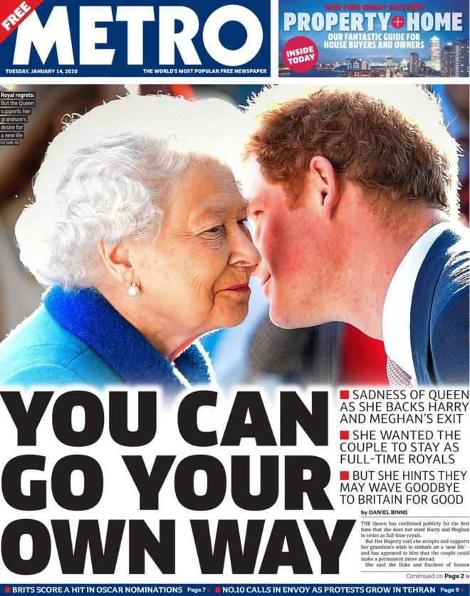 harry meghan front -pages