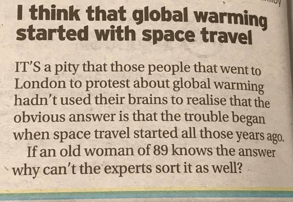 Brenda from Waddington solves global warming