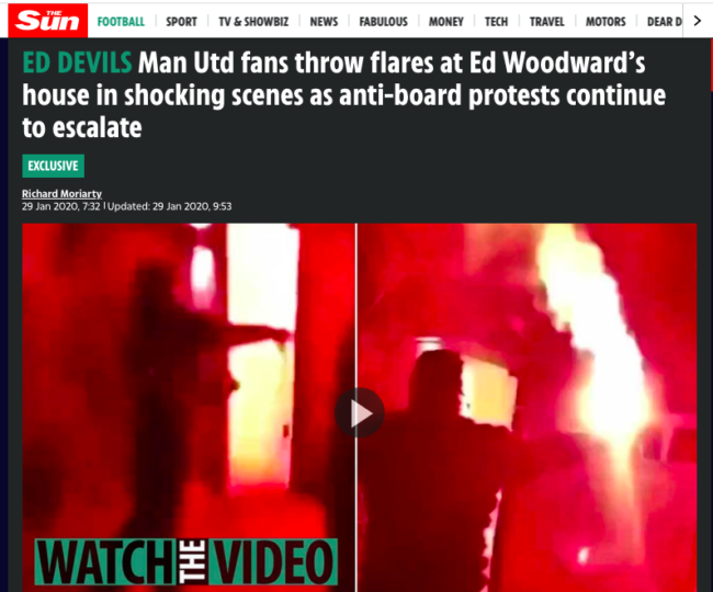 Manchester united the sun woodward