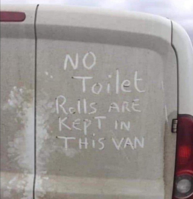 Image result for loo roll van picture