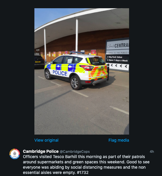 Cambridge police coronavirus