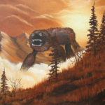 Artist adds monsters to thrift shop art