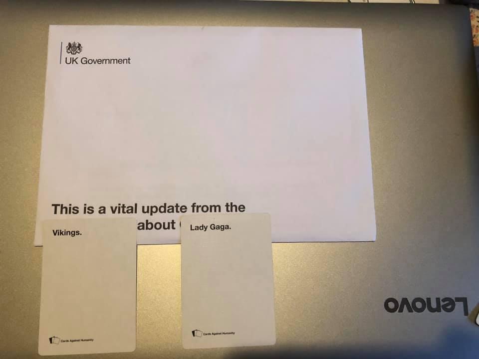 Cards Against Humanity coronavirus