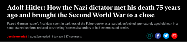 Hitler death independent