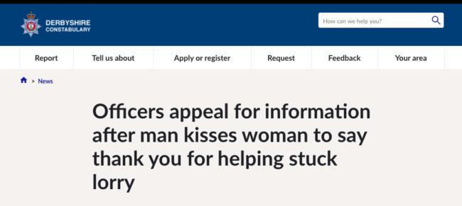 Derbyshire Police crime